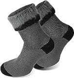 3 Paar Sehr warme POLAR HUSKY® Socken mit Vollplüsch und Schafwolle / Nie wieder kalte Füße!...
