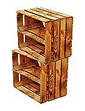 Massive NEUE geflammte Kiste als Schuh- und Bücherregal +++ Obstkiste mit Zwischenbrett +++ Einzeln...