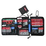 Airsson 99 Stück Erste Hilfe Kits Tasche Molle Emergency Compact Pouch-beinhaltet Notfall Decke,...