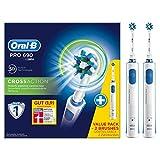 Oral-B Pro 690 Elektrische Zahnbürste, mit zwei CrossAction Aufsteckbürsten, Bonus Pack mit 2...