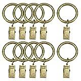 sourcing map 6 Pack Vorhang Clip Ring Gardine Dusche Ring mit Clip silbern 1,5' Innendmr.