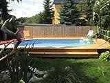 Massivholz-Swimmingpools 594 - Außenmaß: 376 x 714 cm, Wasserkapazität: 20,4 m³,...