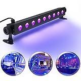 UV LED-Beleuchtung, Elfeland Schwarzlicht (9 LEDs x 3W AC100-240V ) Partylicht Effektlicht...