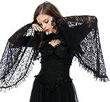 Damen Bolero Jäckchen Spitze mit Trompetenärmel Langarm Gothic Lolita