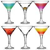 City Martini-Gläser, 175 ml, 6 Stück, in Geschenk-Box, klassische V-förmige Martini-Gläser zum...