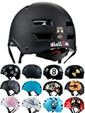 Skullcap® BMX Helm ☢ Skaterhelm ☢ Fahrradhelm ☢, Herren | Damen | Jungs & Kinderhelm, schwarz...