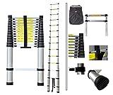 Todeco - Teleskopleiter, Klappleiter - Maximale Belastbarkeit: 150 kg - Material: Aluminiumlegierung...