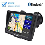 GPS Navi Navigation für Auto LKW PKW Navi 7 Zoll Sonnenschutz Navigationsgerät mit Bluetooth POI...