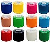 #DoYourFitness 1x Premium Kinesiologie Tape, elastische Qualitäts-Bandage / 100% gewebte...