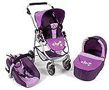 Bayer Chic 2000 637 28 - Kombi-Puppenwagen Emotion 3-in-1 All In Checker, purple