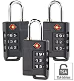 PEARL Gepäckschlösser: 3er-Set TSA-Reisekoffer- & Gepäck-Schlösser mit 3-stelligem Zahlencode...