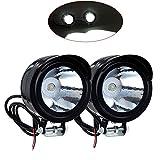 FANGXIN Ein Paar 12V-80V 3W Motorrad Fahrrad LED Vorder Metall Scheinwerfer Zusatzscheinwerfer...