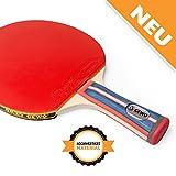 Tischtennisschläger konkav für Tischtennis Profis und Hobbyspieler von GEWO / 1.8mm ITTF Lion...
