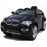 simron BMW X6 SUV Elektro Kinderauto Kinderfahrzeug Ride-On 12V Kinder Elektroauto -schwarz-