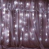Weihnachten 100er LED Vorhang Lichterkette Innen/Außen, MaLivent 2x1,2M Lichtervorhang Fenster,...