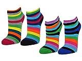 2 / 4 / 6 Paar Damen THERMO Socken Innenfrottee Umschlag-Socken Bunte Ringel Damensocken - 12790 -...