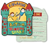 6 Einladungskarten * INDOOR SPIELPLATZ * für eine Übernachtungs-Party // von DH-Konzept // Kinder...