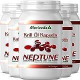 Krillöl Kapseln 450, 100% reines NEPTUNE Premium Krill Öl - Omega 3,6,9 Astaxanthin,...