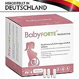 BabyFORTE FolsäurePlus Vitamine • 180 Kapseln • 400/800 mcg Folsäure sowie Eisen & Jod• Für...