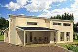 Ferienhaus F6 inkl. Fußboden - 70 mm Blockbohlenhaus, Grundfläche: 72,20 m², Stufendach