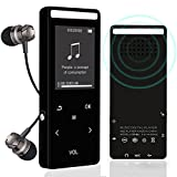 Bluetooth MP3-Player, 8 GB verlustfreie Sound Entry Hi-Fi Touch Bildschirm Integrierter Lautsprecher...