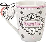 Sheepworld 59255 Lieblingstasse 'Traumfrau', Porzellan, mit Geschenkanhänger
