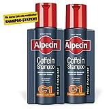 Alpecin Coffein-Shampoo C1, 2 x 250 ml - Beugt erblich bedingtem Haarausfall vor, für fühlbar mehr...