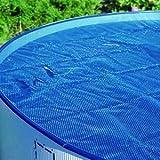 Steinbach Solarabdeckplane für Rundbecken, Durchmesser 6 m, blau, 600 x 600 x 0.1 cm, 036135
