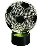 3D Fußball Lampe USB Power 7 Farben Amazing Optical Illusion 3D wachsen LED Lampe Formen Kinder...