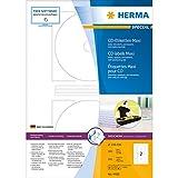 Herma 4460 CD-Etiketten Maxi, blickdicht (Ø116 mm, Innenloch klein, auf DIN A4 Papier, matt) 200...