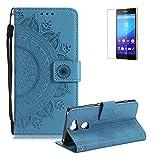 Seil Brieftasche für Sony Xperia XA2 Ultra,Blau Flip Leder Handyhülle für Sony Xperia XA2...