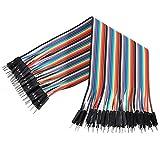 Demarkt Male-Male Jumper Wire Kabel Steckbrücken Drahtbrücken 40 Pin M/M für Arduino Raspberry pi...