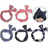 Lictin 5 Stück Haarband Draht Stirnband elastischen Dehnung Haarschmuck Haarhalter Polka Dots für...