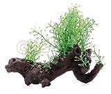 Künstliche Aquariumpflanze auf Kunstast Wurzel Aquarium Deko Wasser Pflanze