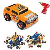 Virhuck 36pcs Take-A-Part Spielzeugauto für Kinder, Montage Spielzeug Set Baufahrzeuge Auto mit...