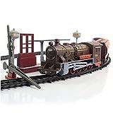 Elektrische Eisenbahn Lok mit Licht- und Soundeffekte, Lokomotive Zug, lange Eisenbahnstrecke,...