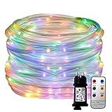 LED Lichterschlauch YINUO LIGHT 10M 136 LED 8 Modi Kupferdraht Weihnachtsichterkette mit...
