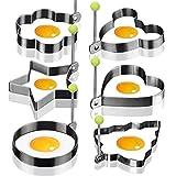 6 Edelstahl Bratring Antihaft-Ei Ringe Kochen Egg Fried Pancake Omeletts Form Ringe Küche Werkzeug...