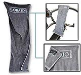 FloBaJo-Fit - GymTow Sporthandtuch, Fitness-Handtuch mit Doppeltasche und umgenähtem Kopfteil...