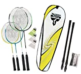 Talbot Torro Badminton-Set Family, Komplettset mit 2 Juniorschläger 53 cm, 2 Standardschläger, 3...