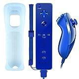 Wii-Controller, XW02 Nintendo Wii Fernbedienung und Nunchuk mit Silikonhülle...