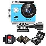 IXROAD Action Kamera 4K Ultra HD 12MP (Action Cam 2 Zoll Display WiFi) 170° Weitwinkel Helmkamera...