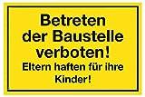 Meister Hinweisschild 'Betreten der Baustelle verboten!' ✓ 300 x 200 mm | Beschilderung |...