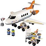 Bausteine Passagier-Flugzeug mit Pilot und Stewardess, 48 cm lang: Kinder Flugzeug Kleinkinder...