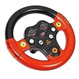 Big 800056459 Bobby cars und Zubehör Verkehrssounds Wheel, schwarz rot