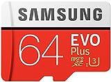 Samsung EVO Plus Micro SDXC 64GB  bis zu 100MB/s Class 10 U3 Speicherkarte (inkl. SD Adapter)...