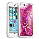 kwmobile Hülle für Apple iPhone SE / 5 / 5S - Hardcase Backcover Case mit Flüssigkeit Handy...