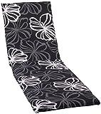 beo Gartenstuhlauflagen Saumauflage für Rolliegen, circa 190 x 58 x 6 cm, schwarz mit weißen...