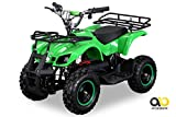 NEU Elektro Kinder Miniquad TORINO 800 Watt ATV Pocket Quad Kinderquad Kinderfahrzeug grün