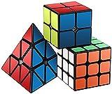 Zauberwürfel Set, Roxenda Zauberwürfeln-Serie von 2x2x2 3x3x3 Pyramid Cube Würfel Smooth...